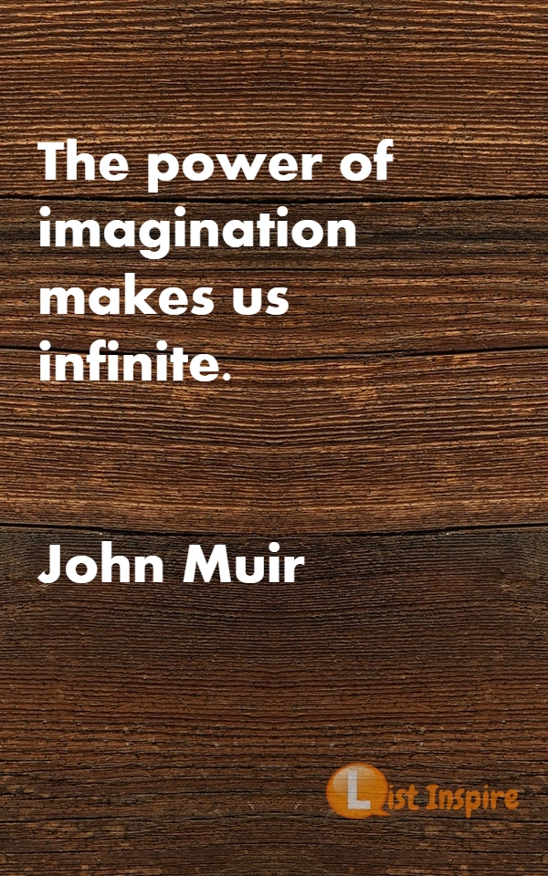 The power of imagination makes us infinite. John Muir